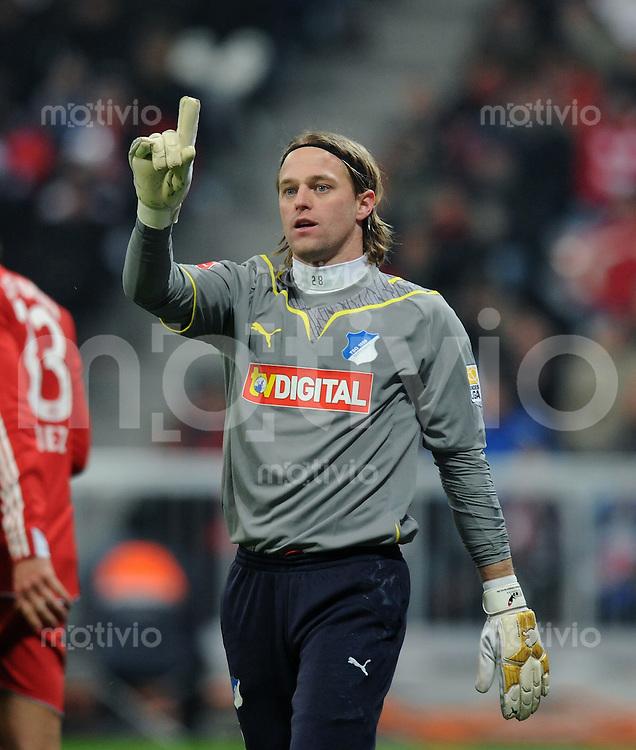 Fussball 1. Bundesliga   Saison   2009/2010  18. Spieltag  15.01.2010 FC Bayern Muenchen  - 1899 Hoffenheim Torwart Timo Hildebrand (Hoffenheim)