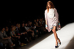 "October 16, 2012, Tokyo, Japan - A model walks down the catwalk wearing ""tiit"" during the Mercedes-Benz Fashion Week Tokyo 2013 Spring/Summer. Fashion week in Tokyo runs from October 13-20. (Photo by Christopher Jue/Nippon News)"