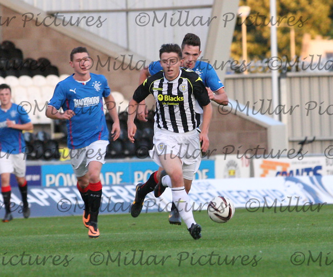 Jordan Stewart in the St Mirren v Rangers Scottish Professional Football League Under 20 match played at St Mirren Park, Paisley on 10.9.13.