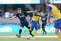 San Jose, CA - Saturday July 29, 2017: Tommy Thompson during a Major League Soccer (MLS) match between the San Jose Earthquakes and Colorado Rapids at Avaya Stadium.