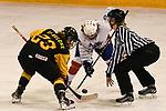 07.01.2020, BLZ Arena, Füssen / Fuessen, GER, IIHF Ice Hockey U18 Women's World Championship DIV I Group A, <br /> Deutschland (GER) vs Frankreich (FRA), <br /> im Bild Lilli Welcke (GER, #23) und Julia Mesplede (FRA, #19) beim Bully<br /> <br /> Foto © nordphoto / Hafner