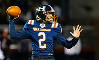 Rogers Heritage quarterback Jeb Brown (2) passes the ball against Fayetteville at Gates Stadium, Rogers, AR on November 1, 2019 / Special to NWA Democrat Gazette David Beach