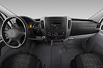 Stock photo of straight dashboard view of 2017 Mercedes Benz Sprinter 2500-144-WB-High-Roof 4 Door Cargo Van Dashboard