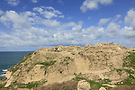 Israel, the Crusader fortress at Apollonia National Park