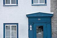 Amérique/Amérique du Nord/Canada/Québec/ Québec: Détail porte des habitations dans la Ville-Haute