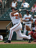 July 14, 2003:  Michael Restovich of the Red Wings, Class-AAA affiliate of the Minnesota Twins, during a International League game at Frontier Field in Rochester, NY.  Photo by:  Mike Janes/Four Seam Images