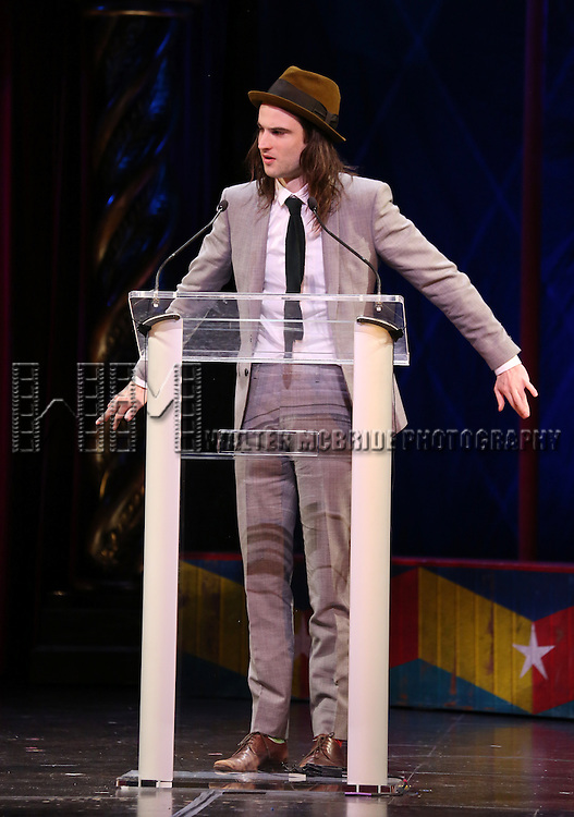 Tom Sturridge during the 69th Annual Theatre World Awards Presentation at the Music Box Theatre in New York City on June 03, 2013.