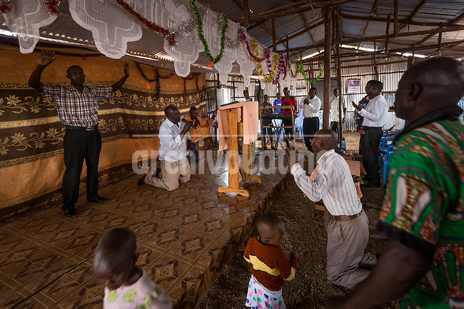 Church in Kakum, Kenya.Kakuma refugee camp in North of Kenya. Kakuma is the site of a UNHCR refugee camp, established in 1991. The population of Kakuma town was 60,000 in 2014, having grown from around 8,000 in 1990. In 1991, the camp was established to host the 12,000 unaccompanied minors who had fled the war in Sudan and came walking from camps in Ethiopia.