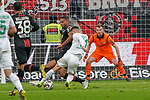 17.03.2019, BayArena, Leverkusen, GER, 1. FBL, Bayer 04 Leverkusen vs. SV Werder Bremen,<br />  <br /> DFL regulations prohibit any use of photographs as image sequences and/or quasi-video<br /> <br /> im Bild / picture shows: <br /> Torchance fuer Milot Rashica (Werder Bremen #11), gegen Jonathan Tah (Leverkusen #4), <br /> <br /> Foto © nordphoto / Meuter