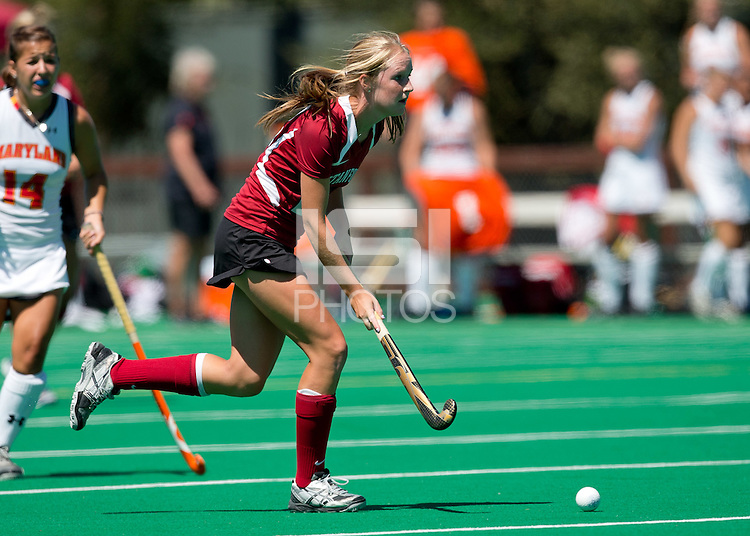 STANFORD, CA - August 26, 2012:  Stanford plays Maryland at the Varsity Turf at Stanford University, Stanford CA.  Maryland won in overtime 3-2.