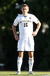 18 September 2015: Notre Dame's Michael Shipp. The University of North Carolina Tar Heels hosted the University of Notre Dame Fighting Irish at Fetzer Field in Chapel Hill, NC in a 2015 NCAA Division I Men's Soccer match. North Carolina won the game 4-2