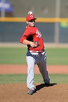 Cincinnati Reds pitcher Ty Sterner (75) during an Instructional League game against the Texas Rangers on October 3, 2014 at Surprise Stadium Training Complex in Surprise, Arizona.  (Mike Janes/Four Seam Images)