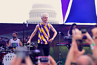 Washington, DC - June 10, 2018:  Troye Sivan performs at the 2018 Capitol Pride concert in Washington, D.C. June 10, 2018.  (Photo by Don Baxter/Media Images International)