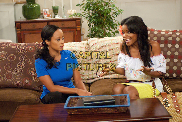 Are We There Yet? (2010-2012) <br /> Suzanne Kingston (Essence Atkins, left) and Gigi (Keesha Sharp, right)  <br /> *Filmstill - Editorial Use Only*<br /> CAP/KFS<br /> Image supplied by Capital Pictures