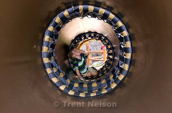 Nathaniel Nelson in tunnel at the California theme park. 10/07/2001, 12:11:22 PM<br />