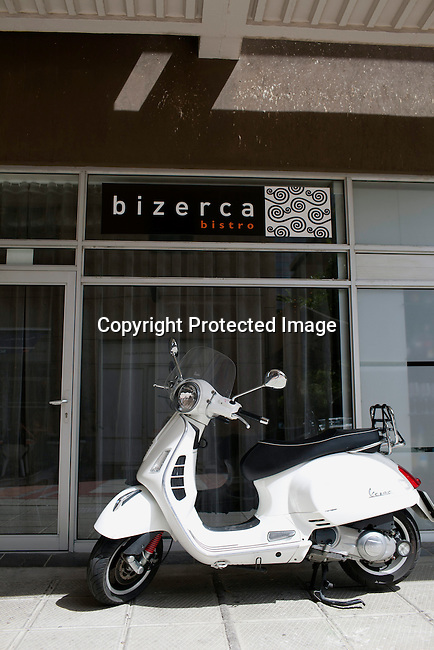 CAPE TOWN, SOUTH AFRICA - MARCH 22: Outside bizerca bistro on March 22, 2012 in Cape Town, South Africa (Photo by Per-Anders Pettersson)
