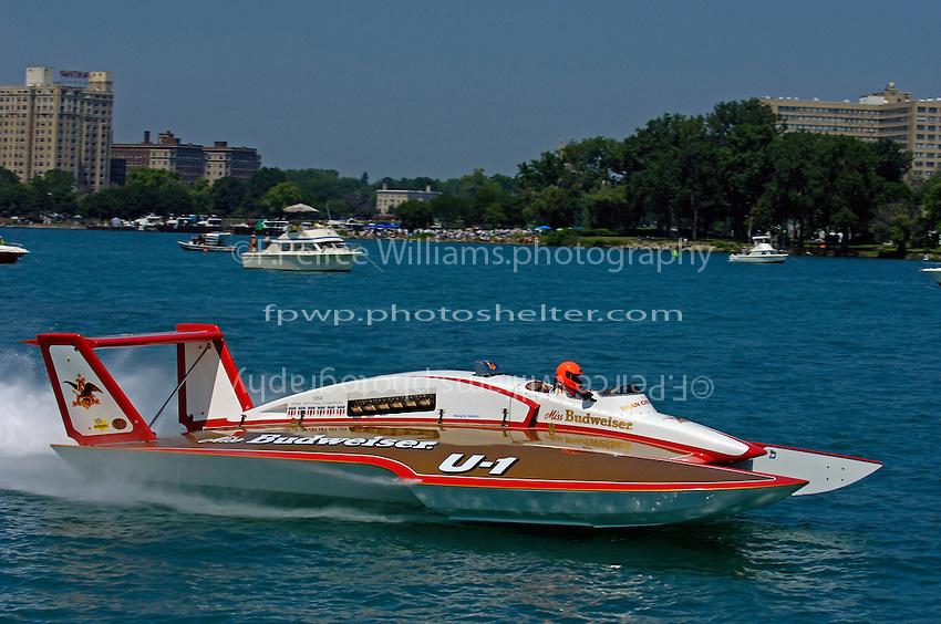 "David Williams, U-1 ""Miss Budweiser"" (1980 Rolls-Royce Griffon powered Ron Joes hull)"