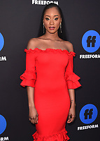 HOLLYWOOD, CA - JANUARY 18:  Pepi Sonuga at the Freeform Summit at NeueHouse on January 18, 2018 in Hollywood, California. (Photo by Scott Kirkland/PictureGroup)