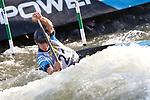 28th September 2019; Canal Olimpic del Segre, La Seu d'Urgell, Catalonia, Spain; ICF Canoe Slalom, World Championships, MC1 Men's Canoe canoe. Picture show Miquel Trave (ESP) in action