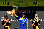Yellow Jersey Julian Alaphilippe (FRA) Deceuninck-Quick Step blitzes the field winning Stage 13 of the 2019 Tour de France an individual time trial running 27.2km from Pau to Pau, France. 19th July 2019.<br /> Picture: ASO/Alex Broadway | Cyclefile<br /> All photos usage must carry mandatory copyright credit (© Cyclefile | ASO/Alex Broadway)