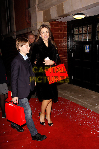 LONDON, ENGLAND - DECEMBER 12 : Damian and Elizabeth Hurley attend the English National Ballet Christmas Party at St Martins Lane Hotel on December 12, 2013 in London, England<br /> CAP/AH<br /> &copy;Adam Houghton/Capital Pictures