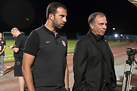 Couva, Trinidad & Tobago - Tuesday Oct. 10, 2017:  Kenny Arena and Bruce Arena during a 2018 FIFA World Cup Qualifier between the men's national teams of the United States (USA) and Trinidad & Tobago (TRI) at Ato Boldon Stadium.