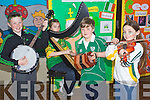 Pictured at the Seachtain na Gaeilge celebrations in CBS Primary School, Tralee on Friday, from left:  Killian Keating, Lottie Boyle, Luke Bishop and Niamh Murphy..