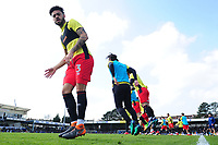 Blackburn Rovers' Derrick Williams during the pre-match warm-up <br /> <br /> Photographer Ashley Crowden/CameraSport<br /> <br /> The EFL Sky Bet League One - Bristol Rovers v Blackburn Rovers - Saturday 14th April 2018 - Memorial Stadium - Bristol<br /> <br /> World Copyright &copy; 2018 CameraSport. All rights reserved. 43 Linden Ave. Countesthorpe. Leicester. England. LE8 5PG - Tel: +44 (0) 116 277 4147 - admin@camerasport.com - www.camerasport.com