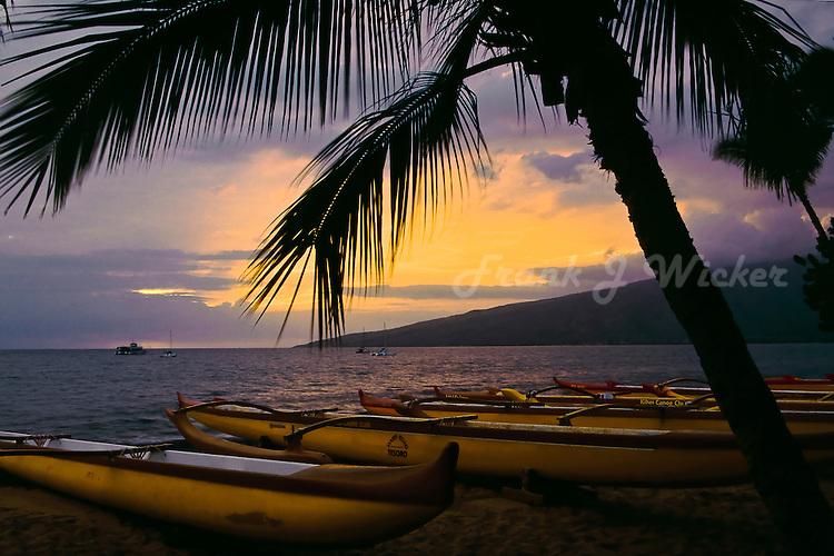 Kihei Canoe Club outriggers