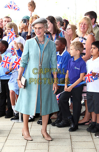 The Duchess of Gloucester attends as Queen Elizabeth II officially opens the new Royal Papworth Hospital on the Cambridge Biomedical Campus. She met with staff and patients during her visit, as well as seeing some of the facilities at the world renowned heart and lung hospital. Cambridge, UK July 9th 2019<br /> CAP/ROS<br /> ©ROS/Capital Pictures
