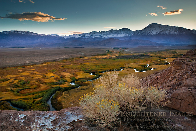 Owens River and the Owens Valley, near Bishop, Eastern Sierra, California