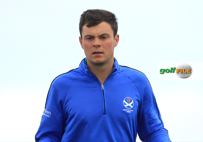 Jack McDonald (Scotland) on the 14th tee during Round 3 of the Irish Amateur Open Championship at Royal Dublin on Saturday 9th May 2015.<br /> Picture:  Thos Caffrey / www.golffile.ie