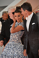 "CANNES, FRANCE. May 17, 2019: Penelope Cruz & Antonio Banderas at the gala premiere for ""Pain and Glory"" at the Festival de Cannes.<br /> Picture: Paul Smith / Featureflash"