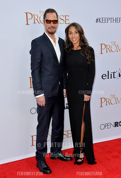 Chris Cornell &amp; Vicky Karayiannis at the premiere for &quot;The Promise&quot; at the TCL Chinese Theatre, Hollywood. Los Angeles, USA 12 April  2017<br /> Picture: Paul Smith/Featureflash/SilverHub 0208 004 5359 sales@silverhubmedia.com