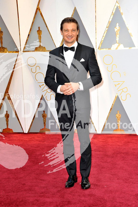 Jeremy Renner attend the 89th Annual Academy Awards at Hollywood & Highland Center on February 26, 2017 in Hollywood, California.