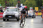 Kristijan Durasek (CRO) UAE Team Emirates in action during Stage 1, a 14km individual time trial around Dusseldorf, of the 104th edition of the Tour de France 2017, Dusseldorf, Germany. 1st July 2017.<br /> Picture: Eoin Clarke | Cyclefile<br /> <br /> <br /> All photos usage must carry mandatory copyright credit (&copy; Cyclefile | Eoin Clarke)