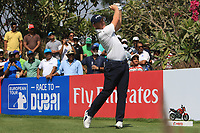 Matt Wallace (ENG) in action on the 16th during Round 4 of the Hero Indian Open at the DLF Golf and Country Club on Sunday 11th March 2018.<br /> Picture:  Thos Caffrey / www.golffile.ie<br /> <br /> All photo usage must carry mandatory copyright credit (&copy; Golffile | Thos Caffrey)