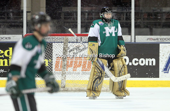 Medina goalie Matt Hatcher (40). Cherry Creek (Colorado) beat Medina (Ohio) 5-1 on the third day of pool play during the 2014 High School Hockey National Championship in Omaha on March 28. (Photo by Michelle Bishop)