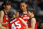 Japan team group (JPN), <br /> AUGUST 15, 2018 - Basketball : Women's Qualification round match between Hong Kong 44-121 Japan at Gelora Bung Karno Basket Hall A during the 2018 Jakarta Palembang Asian Games in Jakarta, Indonesia. <br /> (Photo by MATSUO.K/AFLO SPORT)