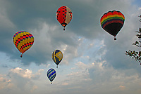 Hot Air Balloons approaching for marker drop