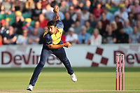 Ravi Bopara in bowling action for Essex during Essex Eagles vs Somerset, Vitality Blast T20 Cricket at The Cloudfm County Ground on 7th August 2019