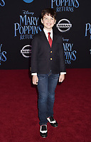 LOS ANGELES, CA - NOVEMBER 29: Iain Armitage attends the Premiere Of Disney's 'Mary Poppins Returns' at El Capitan Theatre on November 29, 2018 in Los Angeles, California.<br /> CAP/ROT/TM<br /> &copy;TM/ROT/Capital Pictures