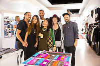 Maurice Salmin, Emi Kitawaki, Rolland Ryan, Dina Kabdolla, Ashlei Lien and Josh Dabdee attend the WILLIAM Sample Sale at Brigade LA on October 25, 2014