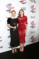 LOS ANGELES - MAR 3:  Aubrey Plaza, Elizabeth Olsen_ at the 2018 Film Independent Spirit Awards at the Beach on March 3, 2018 in Santa Monica, CA