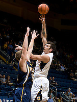 Robert Thurman of California shoots the ball during the game against San Diego at Haas Pavilion in Berkeley, California on November 1st, 2011.  California defeated San Diego, 88-53.