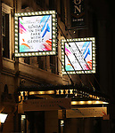 Theatre Marquee for the opening night performance curtain call bows for 'Sunday in the Park with George' at the Hudson Theatre on February 23, 2017 in New York City.
