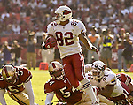 Arizona Cardinals wide receiver MarTray Jenkins (82) runs after catching ball on Sunday, October 27, 2002, in San Francisco, California. The 49ers defeated the Cardinals 38-28.