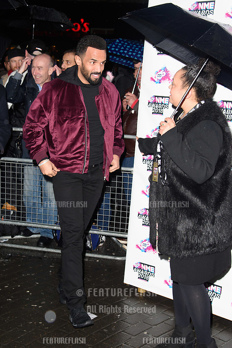 Craig David at the VO5 NME Awards 2018 at the Brixton Academy, London, UK. <br /> 14 February  2018<br /> Picture: Steve Vas/Featureflash/SilverHub 0208 004 5359 sales@silverhubmedia.com