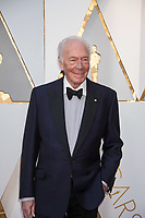 Christopher Plummer, Oscar&reg; nominee for Best Actor in a Supporting Role, arrives on the red carpet of The 90th Oscars&reg; at the Dolby&reg; Theatre in Hollywood, CA on Sunday, March 4, 2018.<br /> *Editorial Use Only*<br /> CAP/PLF/AMPAS<br /> Supplied by Capital Pictures