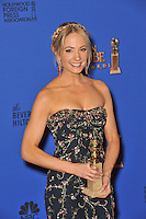 Joanne Froggatt at the 72nd Annual Golden Globe Awards at the Beverly Hilton Hotel, Beverly Hills.<br /> January 11, 2015  Beverly Hills, CA<br /> Picture: Paul Smith / Featureflash